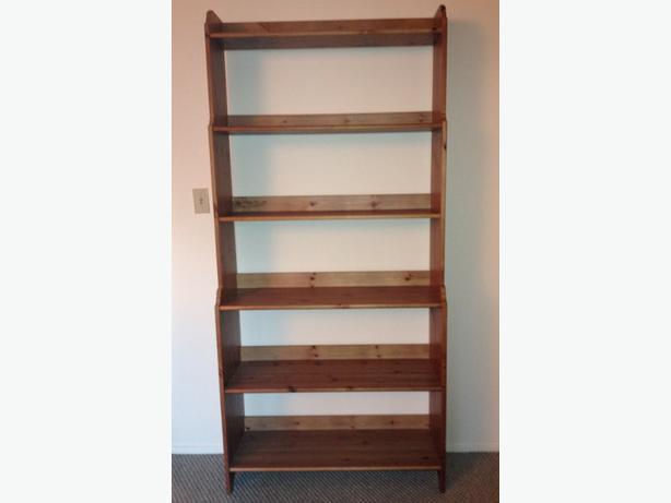 New Price Ikea Solid Pine Bookcase Oak Bay Victoria