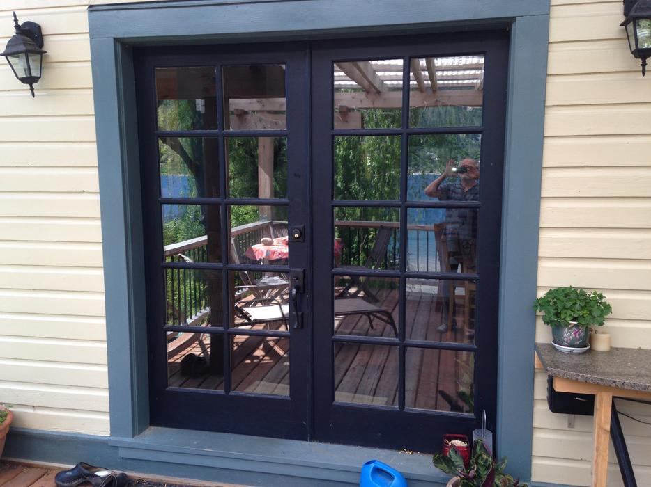 pair of exterior fir 36 inch french doors nelson