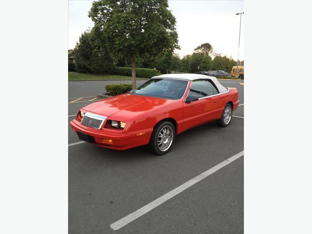 Red 1990 Chrysler Lebaron Convertible Victoria City Victoria