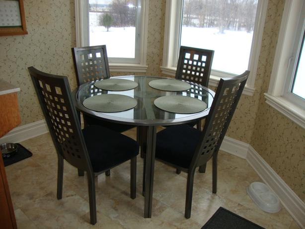 Glass And Metal Dining Table Chairs West Carleton Gatineau