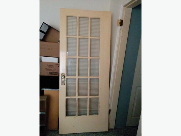 Old Glass Panel Solid Wooden Door Victoria City Victoria