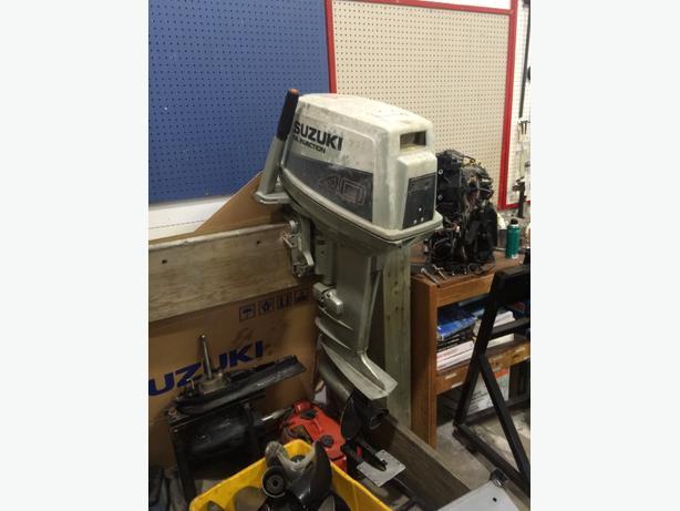 For trade suzuki 40 hp central nanaimo parksville for Suzuki 40 hp outboard motor