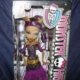Monster High CLAWDEEN WOLF Doll BNIB+Makeup Book, Stickers
