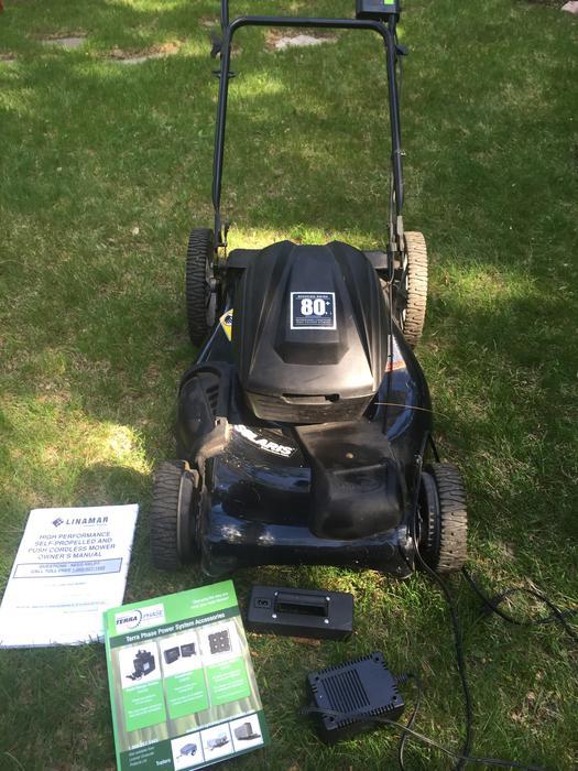 Solaris Battery Powered Lawn Mower Central Ottawa Inside