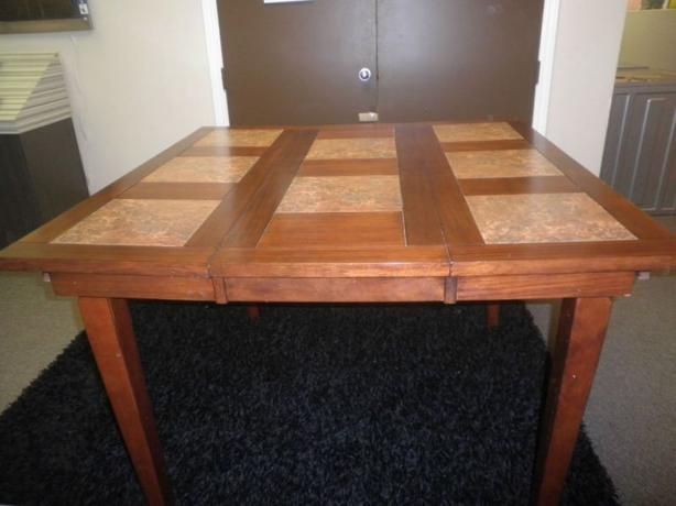 Ashley Ceramic & Wood Pub Style Dining Room Table Central