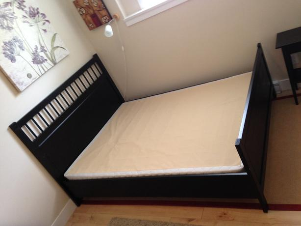 Hemnes Queen Sized Bed Frame in black brown. Hemnes Queen Sized Bed Frame in black brown Victoria City  Victoria