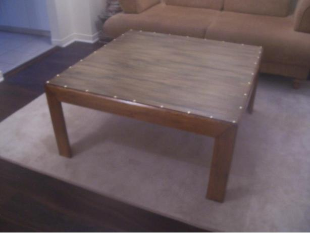 Rustic Chic Large Oak Coffee Table For Sale I Deliver Gloucester Gatineau