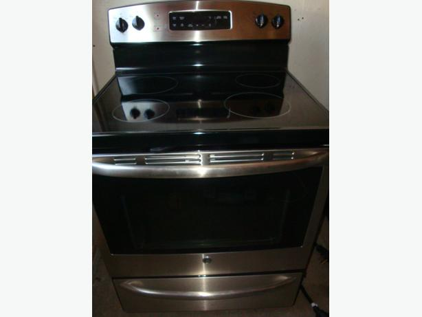 Ge stainless steel flat top stove self clean oven central How to clean top of oven