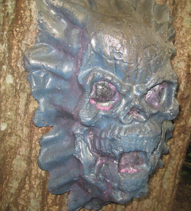 Cement Garden Art: Scary Face Mask North Saanich & Sidney
