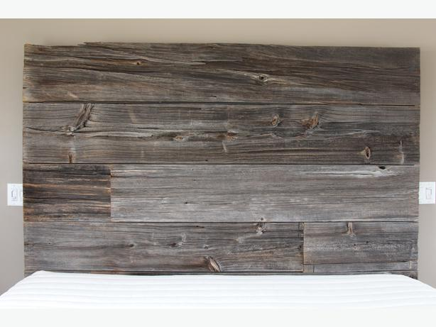 Rustic Reclaimed King Sized Barn Wood Bed Frame And
