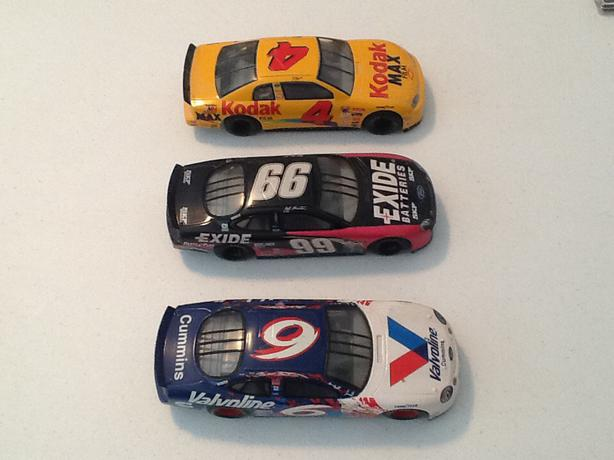 3 - Racing Champions 1/24 Scale  Diecast Nascars