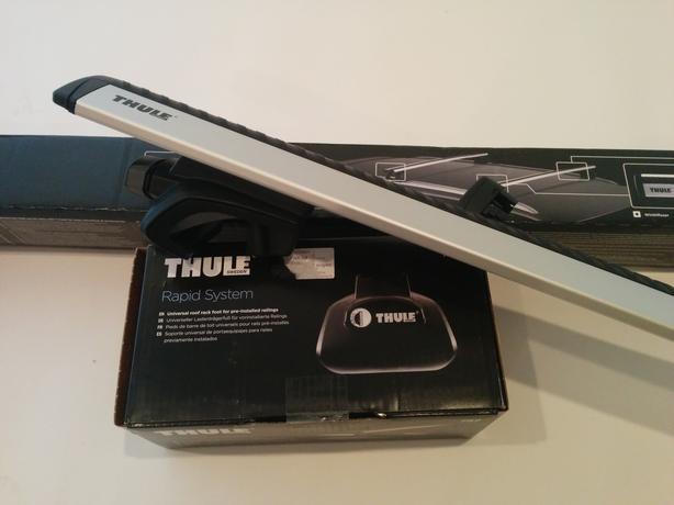 Thule Universal Roof Rack System Aeroblade Bars Bike