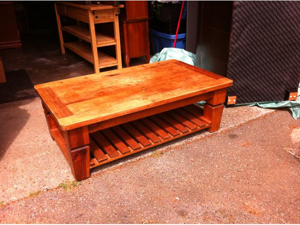Rustic Mexican Pine Coffee Table West Shore Langford Colwood Metchosin Highlands Victoria