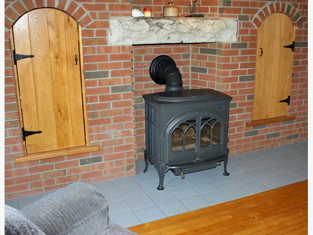 like new jotul f600 firelight wood stove grey black. Black Bedroom Furniture Sets. Home Design Ideas