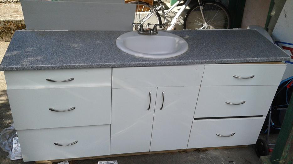 Bathroom Vanity With Counter Top And Sink Victoria City