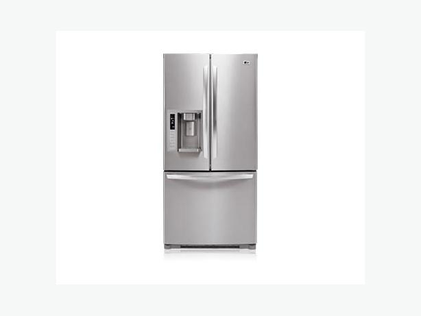 lg french door ss fridge with external water ice. Black Bedroom Furniture Sets. Home Design Ideas