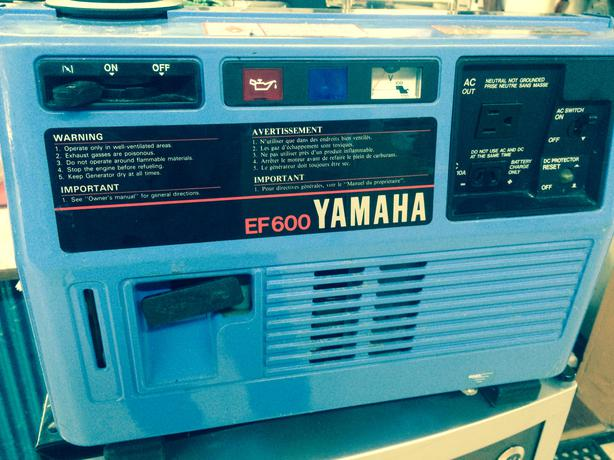 Yamaha ef600 suitcase generator for sale lowered for Yamaha generator for sale