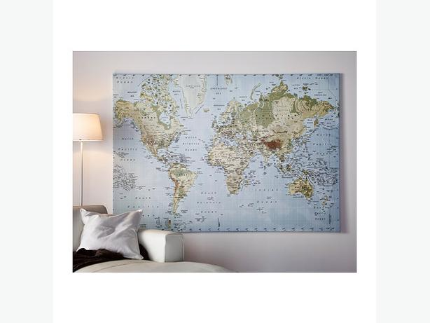 Wanted large world map picture from ikea west shore for Weltkarte poster ikea