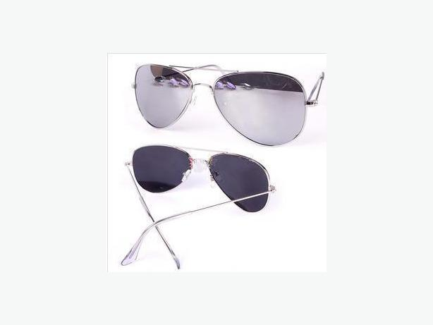New Silver Aviator Mirror Lens Fashion Sunglasses