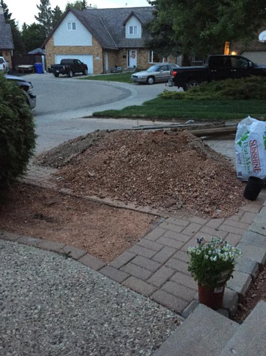 Red Shale Stone : Free red shale landscaping rock east regina