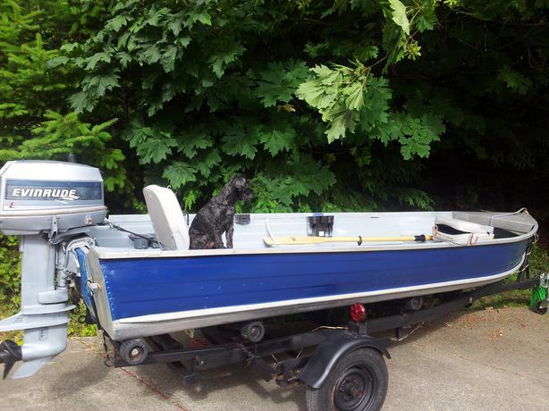 14 39 Aluminum Boat Motor And Trailer Malahat Including