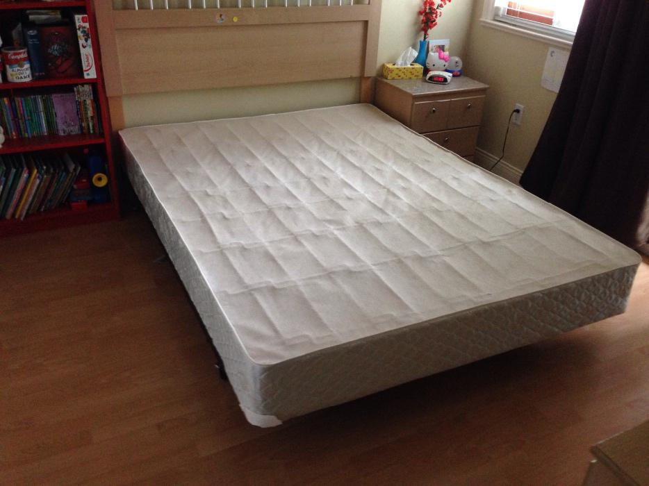 2 Queen Box Spring Amp Metal Bed Frames Burnaby Incl New