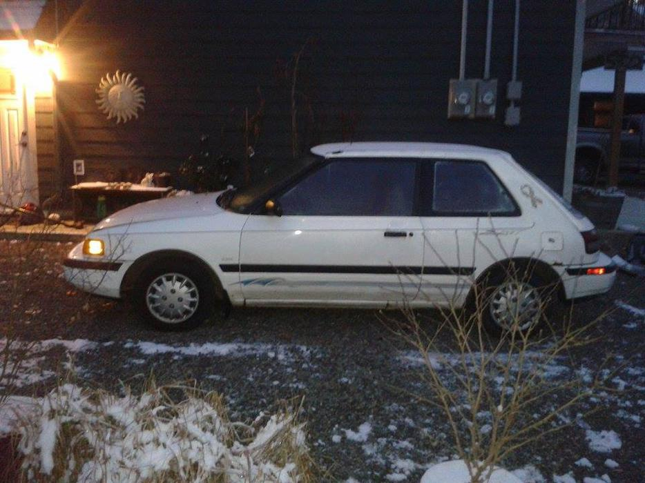 Mazda Millenia White Snow Milly Logbook: 1991 Mazda 323 Sport Hatchback $800 OBO Outside Victoria