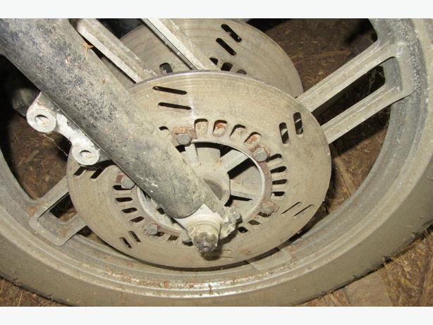 Yamaha Seca turbo XJ650 brake disc rotor wheel axle brake calipre
