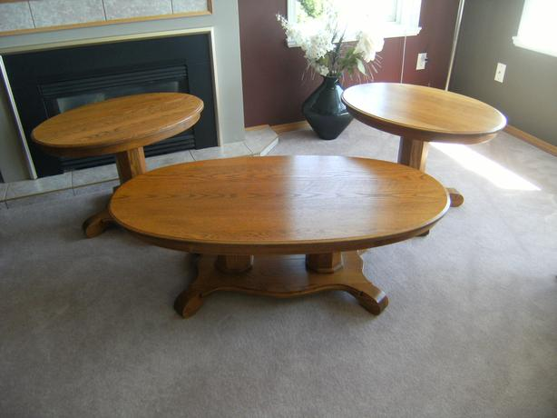 Solid Oak Coffee And End Tables North Nanaimo Parksville Qualicum Beach