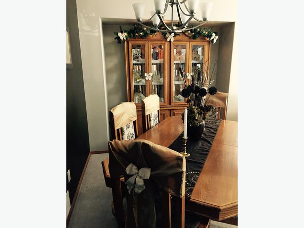 dining table and 6 chairs china cabinet and hutch north