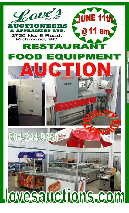 Public auction quality new used food restaurant