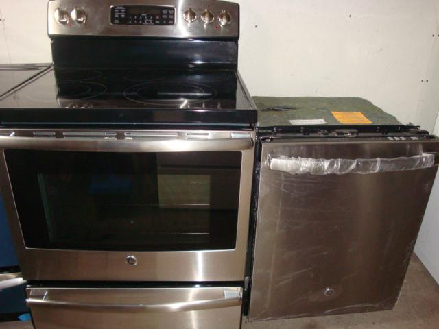 New Ge Stainless Steel Stove Dishwasher And Microwave Range Hood Central Ottawa Inside