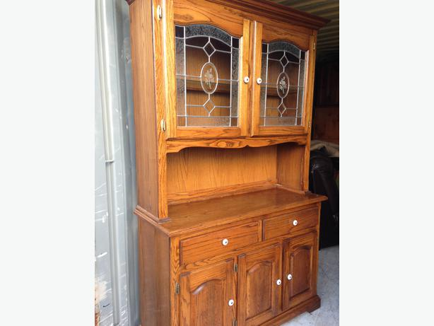 Solid Oak 2 Pcs BuffetHutch China Dining Room Cabinet  : 47020143614 from www.usednanaimo.com size 614 x 461 jpeg 31kB