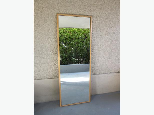 Antique walnut long floor mirror central nanaimo nanaimo for Long floor mirror
