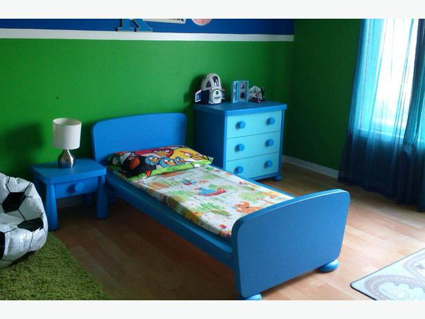 blue ikea mammut toddler bed set orleans ottawa. Black Bedroom Furniture Sets. Home Design Ideas