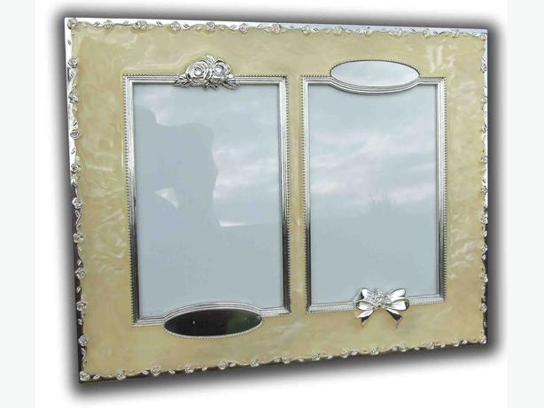 Wedding enamel picture frames engravable set & Photo album