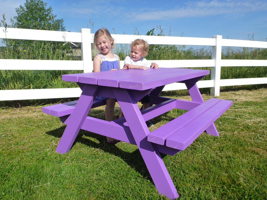 Custom Built Big Kid Picnic Table Surrey Incl White Rock
