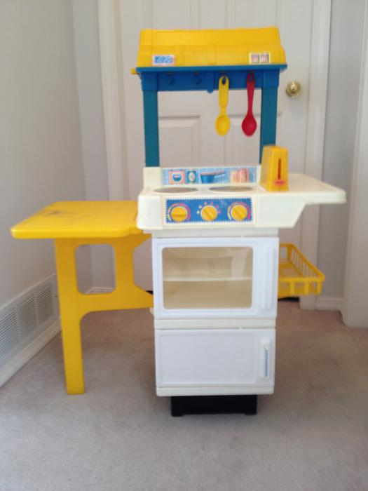Vintage fisher price fun with food kitchen playset - Cuisine bilingue fisher price ...