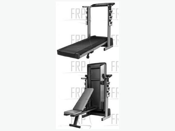 2 5hp pro form crosstrainer treadmill with weight bench