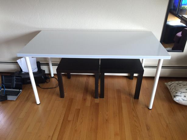 like new ikea linnmon desk victoria city victoria. Black Bedroom Furniture Sets. Home Design Ideas