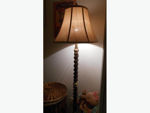 Floor Lamp With Silk Shade Qualicum Nanaimo