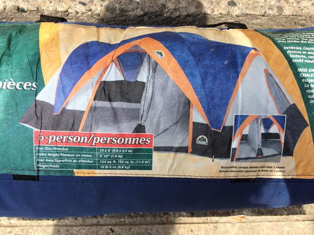 Escort 6 Person Family Tent With Three Sleeping Bags & Escort 6 Person Tent u0026 Canadian Tire Weekly Flyer - Weekly Flyer ...