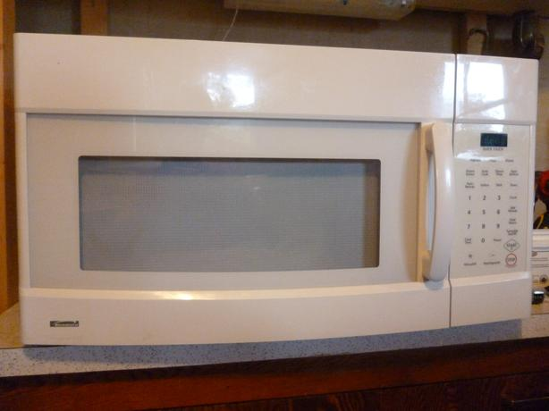 White kenmore over the range microwave oak bay victoria - Red over the range microwave ...