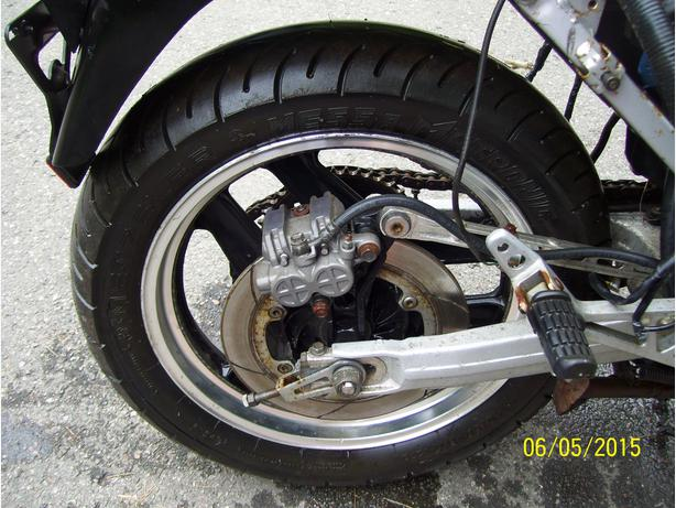 Honda VF1000 Interceptor 1000 rear wheel rim sprocket final drive