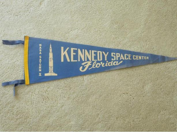 1960's Kennedy Space Center Pennant