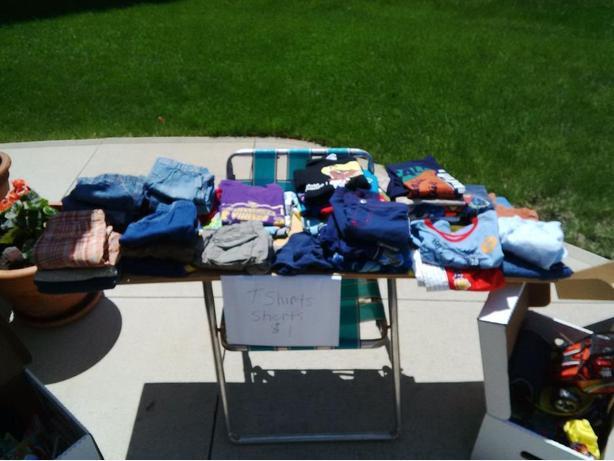 Boys t-shirts, shorts, swim trunks and swim shirts