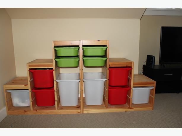 Ikea Trofast Extendable Toddler Bed ~ IKEA TROFAST STORAGE UNIT LIKE NEW Saanich, Victoria  MOBILE