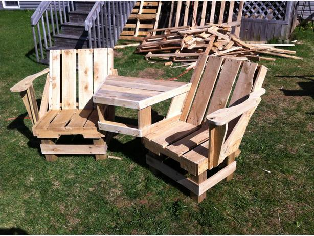Good Adirondack Chair And Pallet Chairs Table Charlottetown PEI