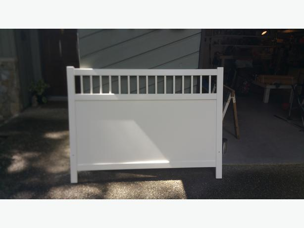 White Ikea Hemmes Queen Bed Frame Mattress North Saanich