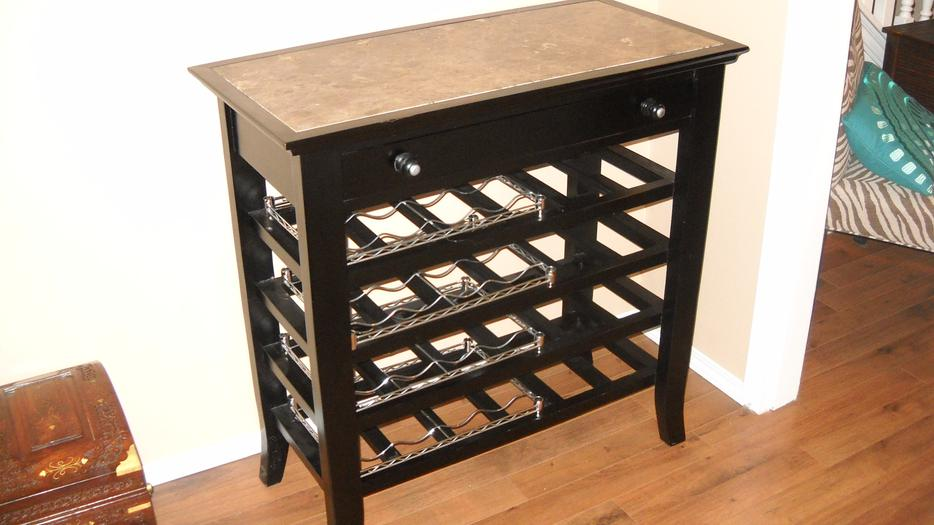 Sideboard With Marble Top Amp Wine Racks 60 New Price